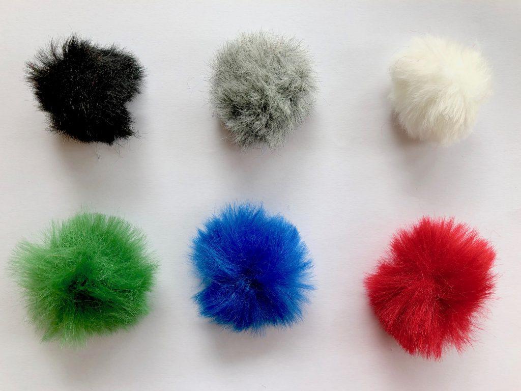 Bonnettes Rycote de couleur