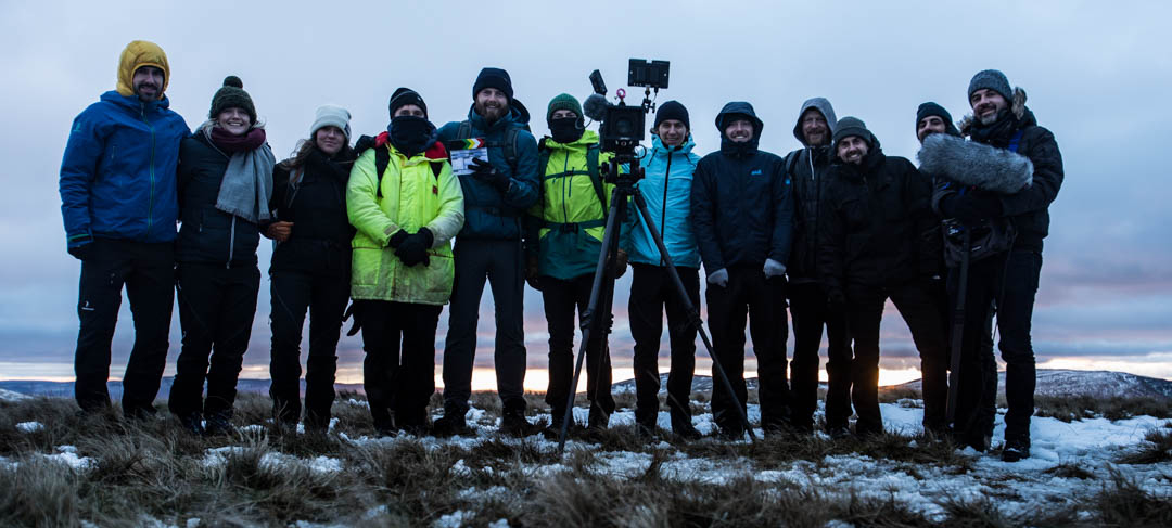 Equipe tournage Land Rover Phone