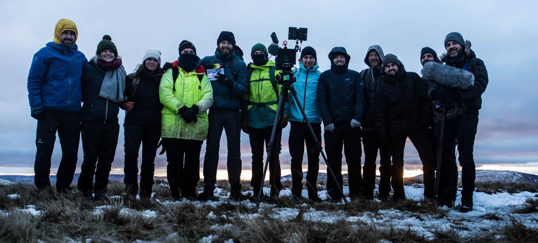 Equipe tournage Land Rover Phone